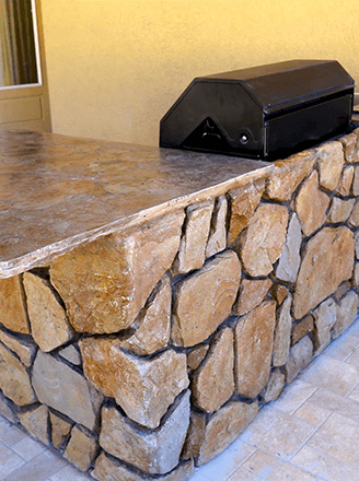 <p>You get everything you need, from cabinets to appliances, with us. Start designing your new and functional custom outdoor kitchen today.</p>